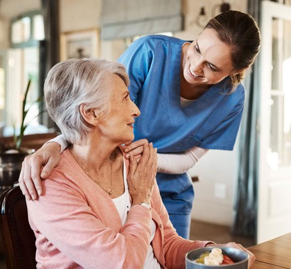 Nurse and Women at The Village at Hamilton Pointe